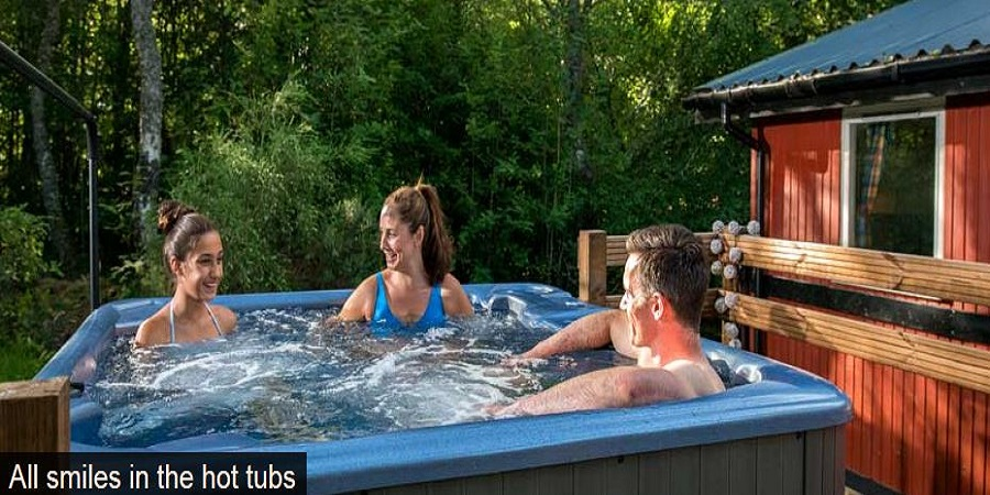 Family lodge holidays scotland hot tubs and heated Log cabins with hot tubs scotland