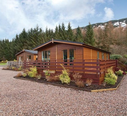 Loch awe holiday park Log cabins with hot tubs scotland