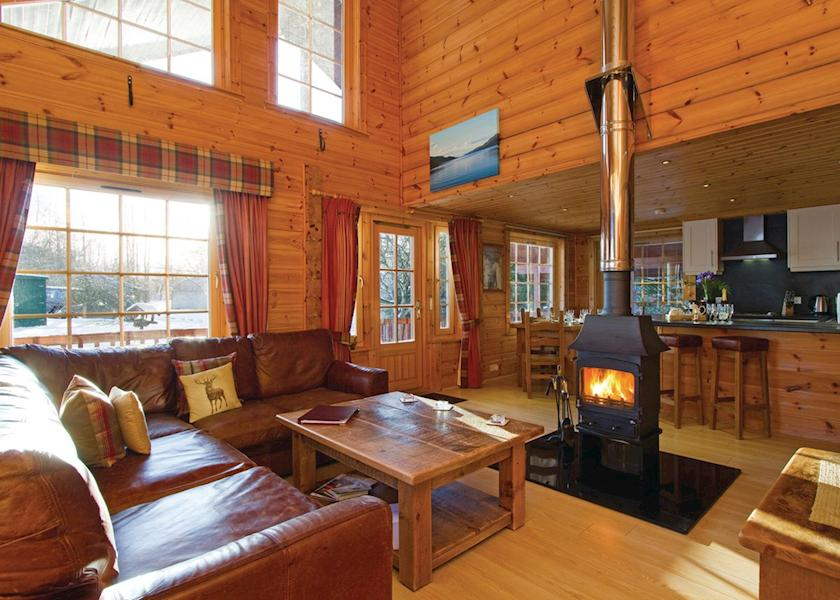 Remote Highland Lodges Hot Tubs and Log Fires