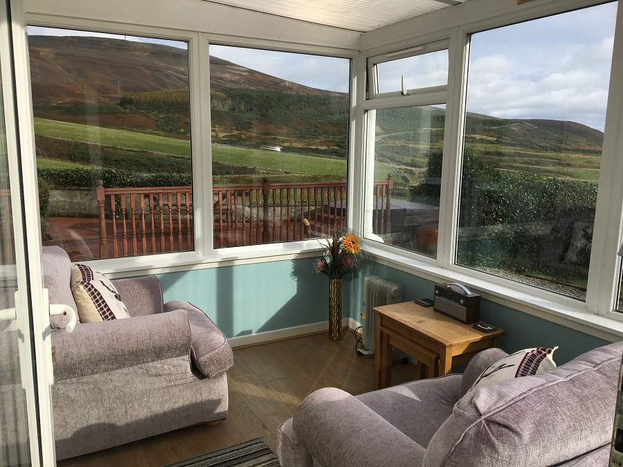 Remote Detached Highland Lodge Sea Views